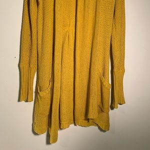 Guinevere Anthropologie Cardigan Sweater Mustard